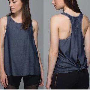 Lululemon Chambray All Tied Up Tank Top